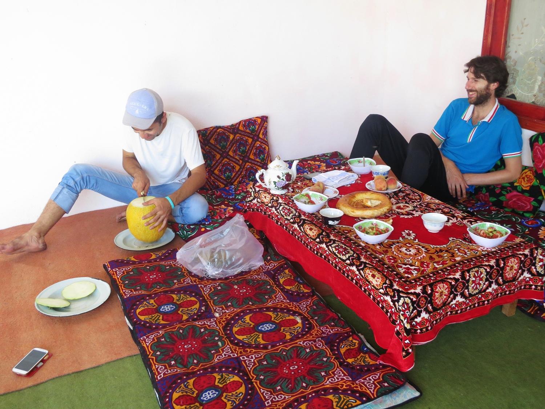 An Uzbek feast with Jalaldin at his home outside Jalal-Abad